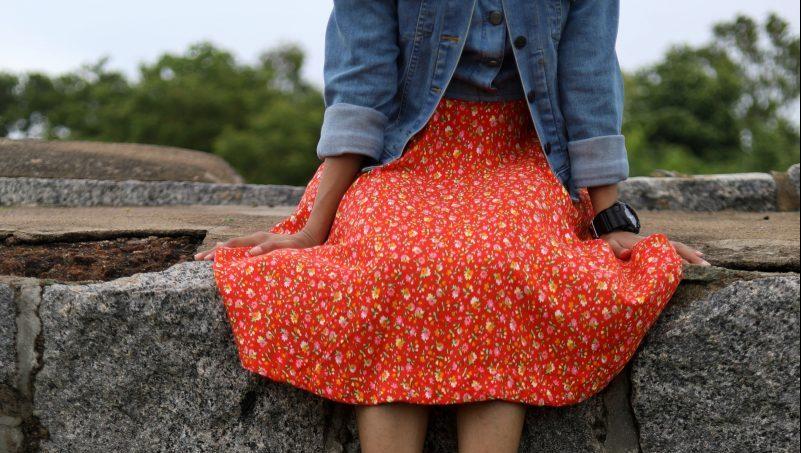 quoi porter avec une jupe fleurie